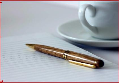 قلم وفنجان